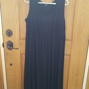 Size 18 long stretch black tank maxi dress
